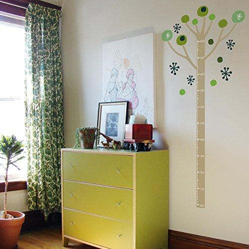 北欧風 転写式 ウォールステッカー 身長計 ツリー(木 tree) 緑 グリーン子供部屋 リビング
