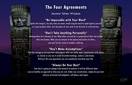 Imagekind Wall Art Print Entitled Four Agreements Poster by I.M. Spadecaller | 16 x 10