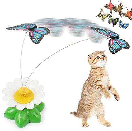 NingTeng Interactivo eléctrico giratorio de mariposa de flores de acero alambre gato...