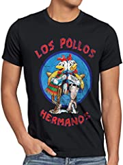 style3 Los Pollos Camiseta Color Negro para Hombre