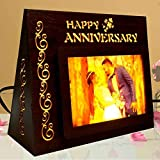 Gift Jaipur Personalised Happy Anniversary LED Photo lamp Frame - Perfect for Wife Husband Parents