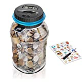 Money Box, Digital Money Box with Ultra-Large Capacity, Coin Counter for k ids, Adults(Includes Lock, 2 Keys,...