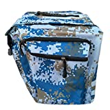 Shlia Bike Bag Bicycle Panniers Bag Large Capacity Waterproof Bicycle Rear Seat Bag Bike Cargo Bag Camouflage Bike Storage Bag (Blue Camouflage)