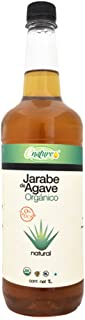 Enature Jarabe de Agave Orgánico, Ámbar, 1 L