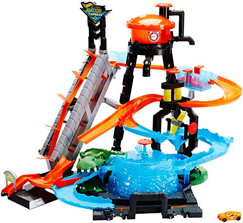 Hot Wheels Cocodrilo Destructor, pista de...