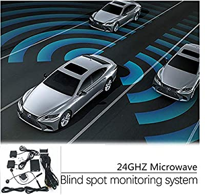 CarBest New Radar Based Blind Spot Sensor and Rear Cross Traffic Alert System, BSD, BSM, 24GHZ Microwave Radar Blind Spot Detection System by CarBest