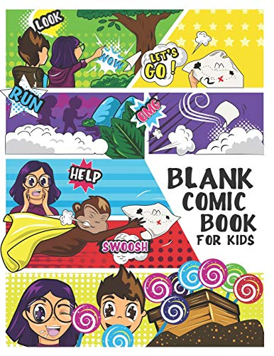 """Blank Comic Book For Kids: Write and Draw Your Own Comics - 120 Blank Pages with a Variety of Templates for Creative Kids, 8.5"""" x 11"""" Comic Sketch Book and Notebook to Create Unique Stories"""