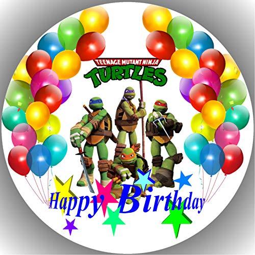 Fondant Tortenaufleger Tortenbild Geburtstag Turtles AMA13