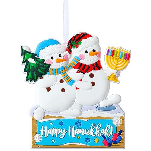 Hanukkah Snowman Christmas Tree Decoration Hanging Ornament Pendant Jewish Hanukkah Christmas Party Supplies Happy Hanukkah Menorah Decorations