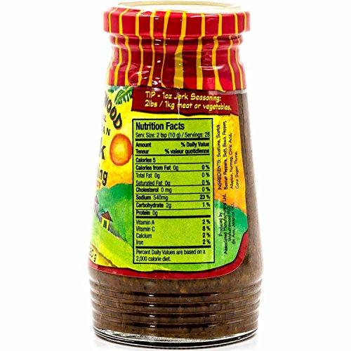 Walkerswood Traditional Jamaican Jerk Seasoning, 10 oz, Hot & Spicy, Versatile Jerk Seasoning, Add Traditional Jamaican Kick to Chicken, Lamb, Pork, Fish and Vegetable Dishes