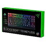 Razer BlackWidow V3 Tenkeyless - Teclado mecánico para juegos (Teclado Gaming Compacto con interruptores mecánicos silenciosos, iluminación cromática RGB, gestión de cables) - Teclado US