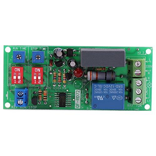 1 stück Relaismodul AC100V-250V Unendliche Schleife Zyklus Timer Modul Verzögerung Relais EIN/AUS Einstellbare Zeiten Schalter Modul RD72-A