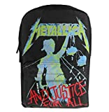 Mochila de Bandolera Black Sax Metallica Justice For All Black
