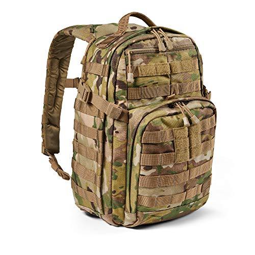 5.11 Mochila Táctica Rush 12 2.0 – Mochila Militar Molle, CCW Portación Oculta y Compartimento para Ordenador Portátil, 24 litros, Pequeña, Estilo 56562 – Multicam