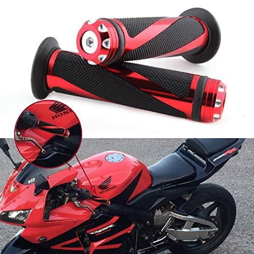 Puño Moto Universal, 7 8  22 mm Empuñadura de Manillar de Motocicleta, Agarraderas para Moto Aluminio CNC Antideslizantes Motocicletas Perillas Motocross para Moto Bici.