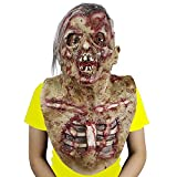 Halloween Scary Monster Mask,Creepy Costume Party Cosplay Rubber Latex Full Head Adult