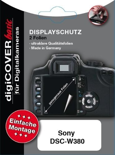 DigiCover Screen Protector Basic f/ Sony DSC-W380 Macchina fotografica