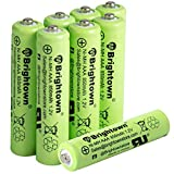NiMH Rechargeable AAA Battery Pack of 8, 850mAh 1.2v Pre-Charged Triple A Solar Battery for Solar Lights, Remote Controller, Electric Toys, UL Certified