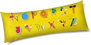 INTERESTPRINT Creative Fruit Font and Alphabet N-Z Long Body Pillow Protector Fit 21
