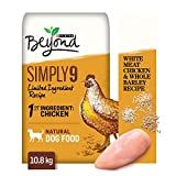 Beyond Simply 9 Natural Dry Dog Food, White Meat Chicken & Whole Barley 10.8 kg Bag