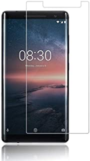 Nokia 8 Sirocco Screen Protector, 9H Hardness 0.3mm Ultra Slim Premium Tempered Glass Screen Protector for Nokia 8 Sirocco...