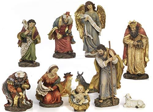Articoli Religiosi by Paben Set Presepe Completo 11 soggetti in Resina cm. 14,4
