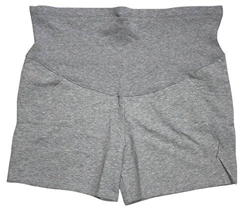 Petitebelle Schwangere Umstandshose für Frauen über dem Bauch Gr. XL, grau