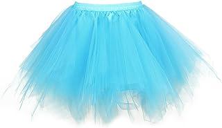 Leeofty Women 1950s Vintage Tutu Petticoat Ballet Bubble Tulle Skirt Layered ni Underskirt