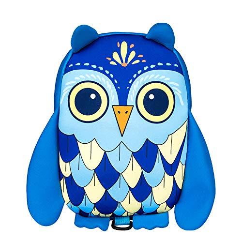 QqHAO Mochila Niño Nursery School Kids Bolsa Niños Bolsas Animal de la Historieta Anti-Perdida Arnés Mochila adecuados, para niños y niñas con una Altura de 60-140Cm (Owl)