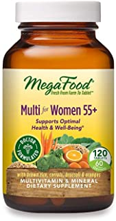 MegaFood, Multi for Women 55+, Supports Optimal Health and Wellbeing, Multivitamin and Mineral Dietary Supplement, Gluten ...