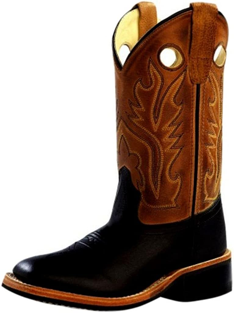 Old West Superior Boys' Canyon Cowboy Limited time cheap sale Square Boot Black Toe
