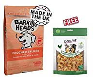 Barking Heads Pooched Salmon is a specific diet for dogs with fussy appetites and more sensitive digestions, which combines nutritious salmon and potato. This complete dog food contains purely natural and hypo-allergenic ingredients to aid in the dig...