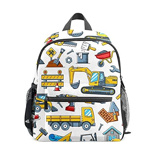 Juguete Tractor Herramientas de Construcción Mochila para Niña Niño Mini Viaje Daypack Primario Estudiante Preescolar Bookbag Pequeño Bolsa de la Escuela