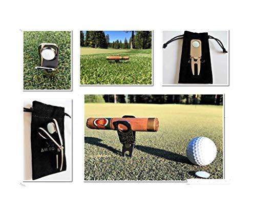 2Pcs Golf Divot Tool with Ball Marker Cigar Holder,Magnetic Cigar Holder, Golf Divot Repair Tool & Ball Marker, Golf Accessories, Golf Divot Repair Tool,Cigar Holder and Golf Divot Tool