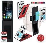 reboon Hülle für Elephone S2 Plus Tasche Cover Case Bumper | Rot Leder | Testsieger