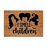 FAGGMY Funny Entryway I Smell Children Outdoor Floor Mat with Heavy-Duty PVC Backing Non Slip Cursive Natural Coconut Coir Brown Mat with Black Font 23.7 x 15.7 inch