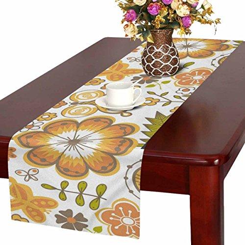 Zenzzle Camino de mesa, 40 x 183 cm, diseño de flores marrones
