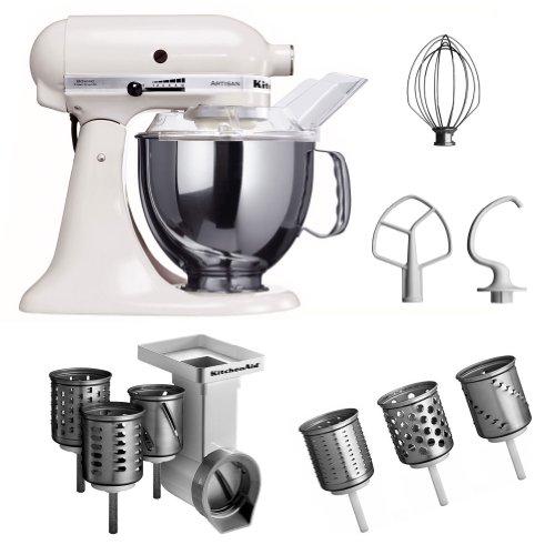 Kitchenaid KSM150PSEWH + MVSA + EMVSC Kitchenaid 5KSM150PSEWH Küchenmaschine Serie