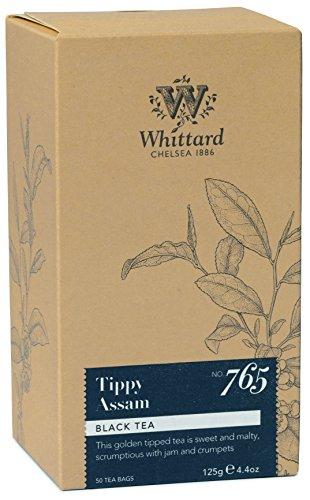 Whittard Schwarzer Indischer Tee Tippy Assam Tea Schwarztee aus Indien 50 Teebeutel (125g)