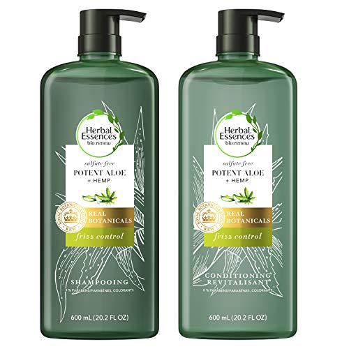 Herbal Essences Sulfate Free Shampoo amp Conditioner Potent Aloe  Hemp Bio Renew 202 Fl Oz Bundle
