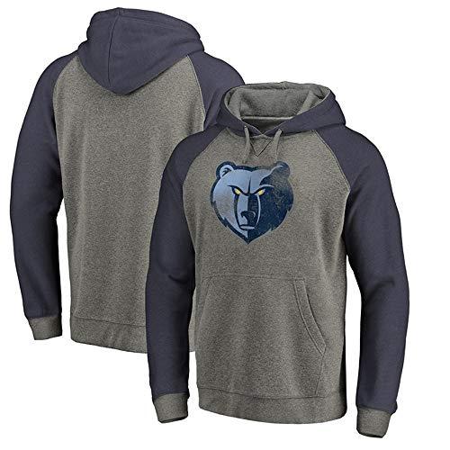 HuWai-Outdoor Sweat à Capuche NBA Memphis Grizzlies - Vêtements de Support à imprimé Poitrine, XXL