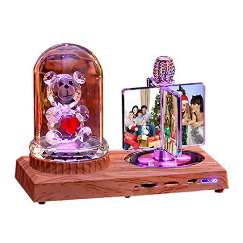 Luz De Foto Lámpara Bluetooth Personalizada Luz De Música Con 4 Imágenes...
