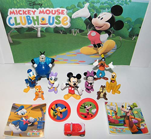 The Mickey Mouse Clubhouse deluxe party favor set of 14 with 10 fun Figures, 2 Stickers and 2 ToyRings featuring Mickey and all his Friends!