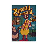 Ronald McDonald Retro Poster Goes to The Zoo Prints Poster,
