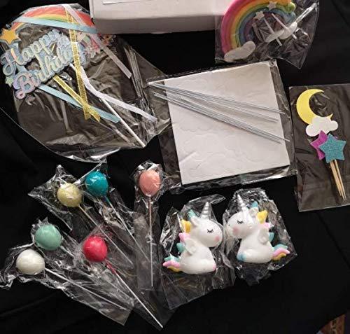 Layal Design Einhorn Cake Topper Set | Kuchendeko Tortendeko Tortenaufleger Kuchen Torte Torten Deko | Geburtstagsdeko Party Geburtstag Birthday Kindergeburtstag Mädchen