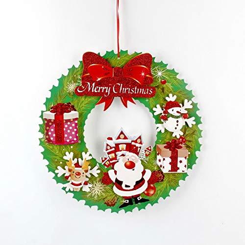 zmxss Stickers porte de Noël créatif Stickers décoration de Noël Stickers décoration de vitrine pour hôtels au centre commercial Stickers fournitures de Noël