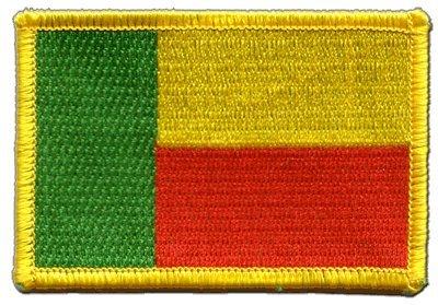 Aufnäher Patch Flagge Benin - 8 x 6 cm