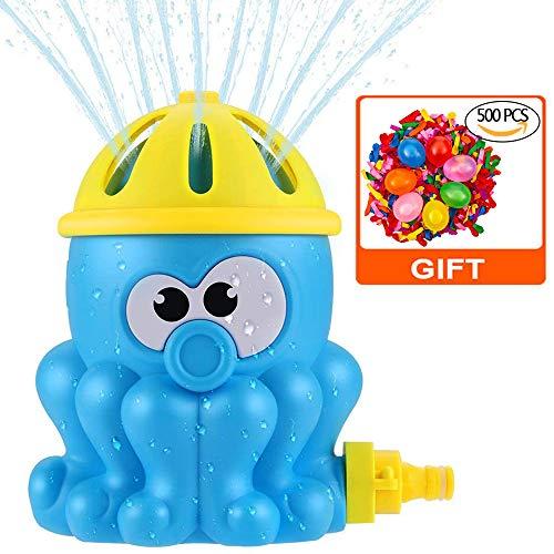 Hook Aspersor de agua para jardín y niños, rociador de agua, juguete de verano al aire libre, fuente de agua para niños, + 500 globos de agua