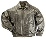 REED Men's All American Bomber Leather Jacket Union Made in USA (Medium, Brown) by REED