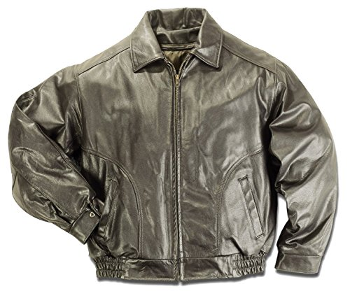 REED Men's All American Bomber Leather Jacket Union Made in USA (2XLTall, Brown)